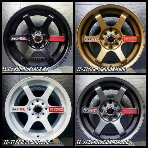 Volk Rays Te37 Sl R15 Spare Part Aksesoris Honda Brio