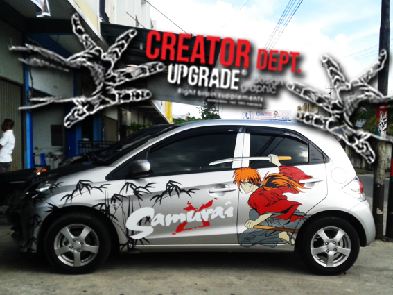 Cutting sticker mobil samurai x source · sticker utk brio silver alabaster body kit decals and stickers