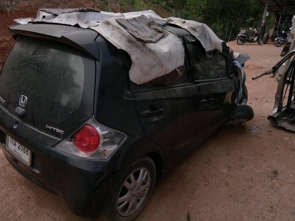honda brio crash 2