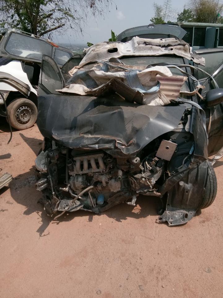 honda brio crash 1