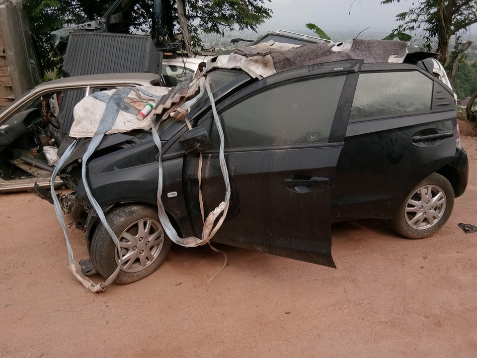 honda brio crash 4